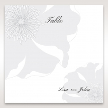 Classic Shimmering Flower table number card stationery