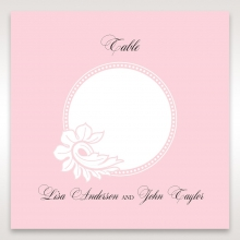 Classic White Laser Cut Floral Pocket wedding reception table number card stationery item