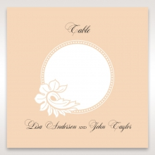 Classic White Laser Cut Sleeve reception table number card