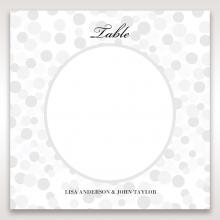Contemporary Celebration wedding venue table number card design