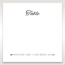 Country Lace Pocket table number card design