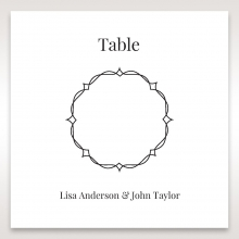 Elegant Crystal Black Lasercut Pocket reception table number card stationery