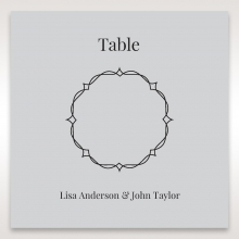 Elegant Crystal Lasercut Pocket wedding stationery table number card design