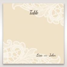 Embossed Floral Pocket reception table number card design