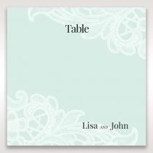 Embossed Gatefold Flowers wedding stationery table number card