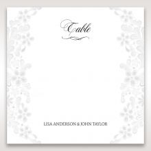 Everlasting Love wedding table number card