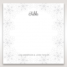 Floral Cluster reception table number card stationery design