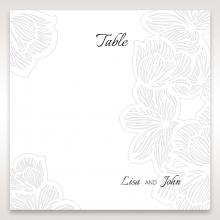 Floral Laser Cut Elegance Black wedding stationery table number card item