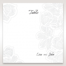 Floral Laser Cut Elegance reception table number card stationery