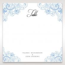 Graceful Wreath Pocket wedding reception table number card design