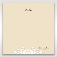 Ivory Victorian Charm table number card stationery item