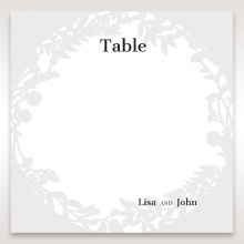 Luscious Forest Laser Cut wedding reception table number card stationery item