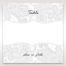 Luxurious Embossing with White Bow wedding stationery table number card