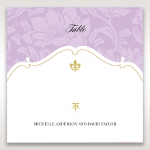 Majestic Gold Floral wedding reception table number card stationery