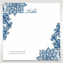 Noble Elegance reception table number card stationery design