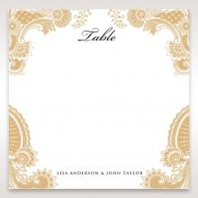 Prosperous Golden Pocket wedding reception table number card stationery design