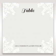 Regal Romance table number card