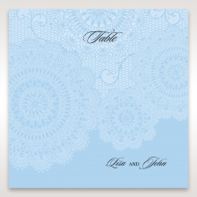 Rustic Lace Pocket reception table number card design
