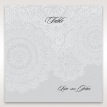 Rustic Lace Pocket reception table number card stationery