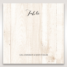 Rustic Woodlands wedding venue table number card stationery item