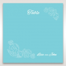 Seaside splendour wedding reception table number card stationery item