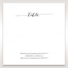 Simply Rustic table number card