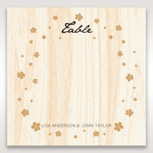 Splendid Laser Cut Scenery wedding table number card design