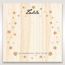 Splendid Laser Cut Scenery wedding table number card design