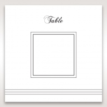Unique Grey Pocket with Regal Stamp wedding stationery table number card item