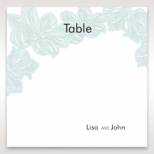 Vibrant Flowers wedding reception table number card