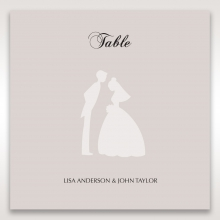 Wedded Bliss wedding venue table number card stationery item