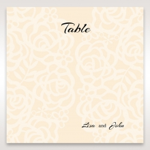 Wild Laser cut Flowers table number card stationery design