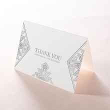 Ace of Spades wedding stationery thank you card