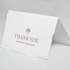 Ace of Spades with Deckled Edges thank you wedding stationery card