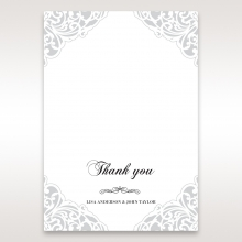 An Elegant Beginning thank you wedding stationery card design