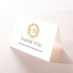 Aristocrat wedding stationery thank you card design