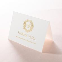 Aristocrat thank you wedding card