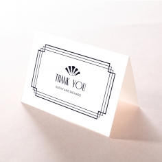 Art Deco Allure thank you invitation card