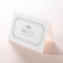 Art Deco Allure wedding stationery thank you card design