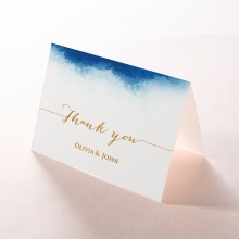 At Twilight  with Foil thank you stationery card design