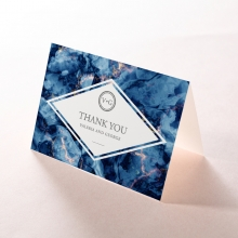 Azure  with Foil thank you stationery card item