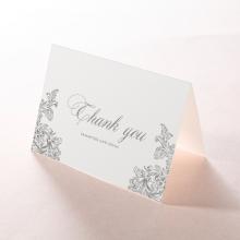 Baroque Romance wedding stationery thank you card design