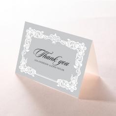 Black Divine Damask thank you stationery card item