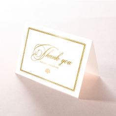 Black Doily Elegance with Foil wedding stationery thank you card