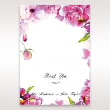 Black Framed Floral Pocket thank you stationery card item