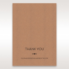 Blissfully Rustic  Laser Cut Wrap wedding thank you card