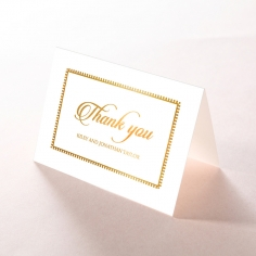 Blooming Charm with Foil thank you invitation card
