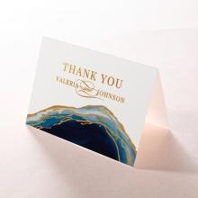Blue Aurora wedding thank you stationery card