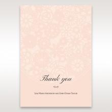 Blush Blooms wedding stationery thank you card item