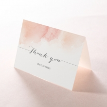 Blushing Rouge thank you stationery card design